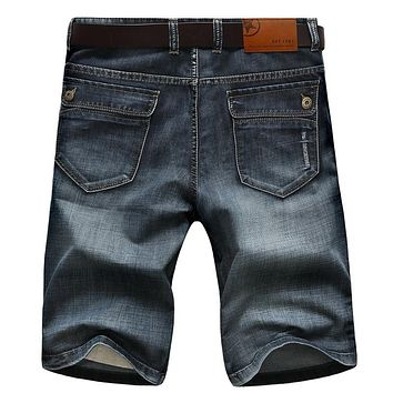 SHORTS Mens Retro Casual Shorts Cargo Denim Shorts Men Jeans Vintage Faded Multi-Pockets Military  Biker Short Jeans