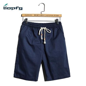 Summer Men New five-point pants Large-Size Cotton Casual Pants Korean High-Quality Fabric Men's Beach Pants Color Variety MK600