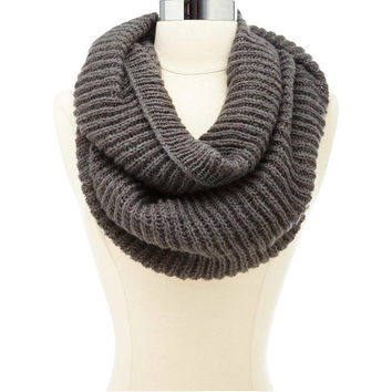 RIBBED KNIT INFINITY SCARF