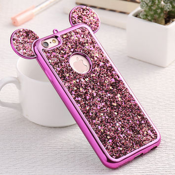Fashion 3D Mickey Mouse Case For Iphone 6 6S 7 Plus 5S Rhineston 2ed40d5af