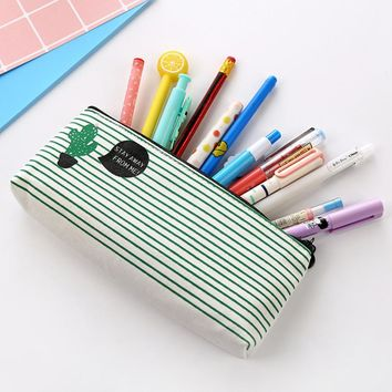 Travel Makeup Cosmetic Cactus pattern Case Wash Storage Cartoon Pencil Case Drop shipping #XG