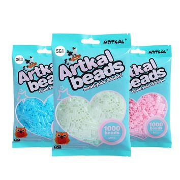 3 bags glow in dark set artkal midi beads S-5mm 1000pcs/bag hama perler beads funny creative toys