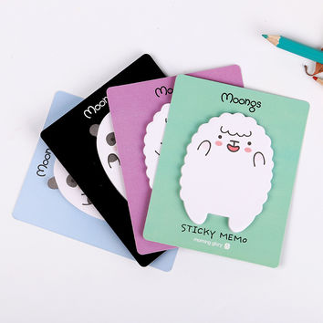 1 Pcs Cute Animal Sheep Mini Stickers Korean Stationery Sticky Notes Post Note Kawaii for Diary Things Memo Pad