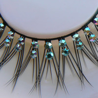 Mermaid Tears - Ultra Sparkly Exclusive False Eyelashes with Preciosa AB Crystal Diamante