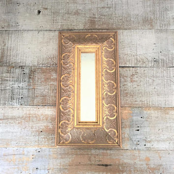Wall Mirror Ornate Gold Mirror French Country Mirror Wood Framed Mirror Wood Mirror Decorative Wall Mirror Hanging Wall Mirror