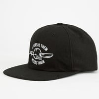 Us Versus Them Heads High Mens Snapback Hat Black One Size For Men 24798710001