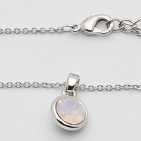 Crystal Pendant Necklace - Rose Opal