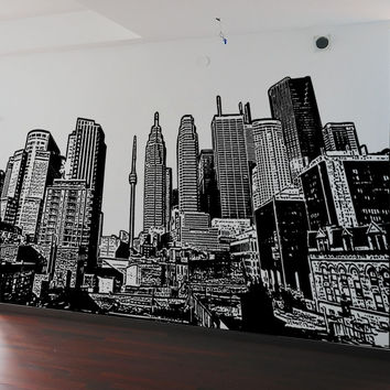 Vinyl Wall Decal Sticker Toronto Buildings #5228