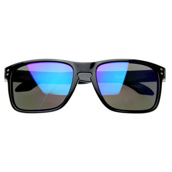 Men's Action Sports Skater Surfer Mirrored Lens Sunglasses 8344