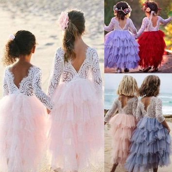 Pudcoco Toddler Kid Baby Girl Princess Clothes Short Sleeve Dress Tutu Skirt Sundress Support Wholesale Bright And Translucent In Appearance Girls' Baby Clothing