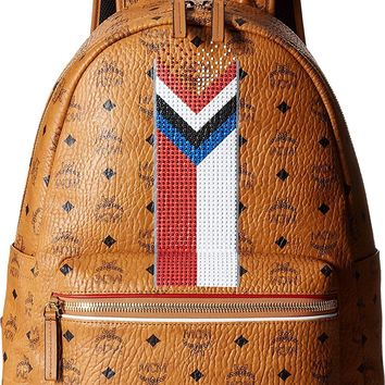 MCM Unisex Stark Chevron Stripe Visetos Backpack