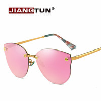 Women Sunglasses Polarized Mirror Sun Glasses Frame Cat eye Classic Flower Design Sexy Sun Glasses