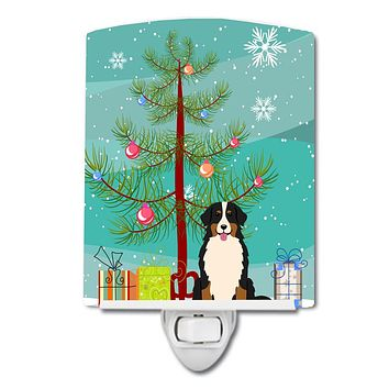 Merry Christmas Tree Bernese Mountain Dog Ceramic Night Light BB4161CNL