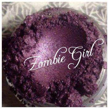 ZOMBIE GIRL Organic Mineral Eye Shadow Dark Purple Beauty Vegan All Natural Hand Crafted Pigment, Eyes Lips Nails