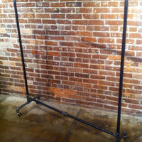 Industrial Pipe Clothing Rack - 36""