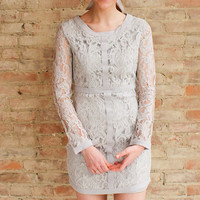 Levinia Lace Dress - Light Grey