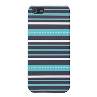 Blue stripes - iPhone case Cover For iPhone 5