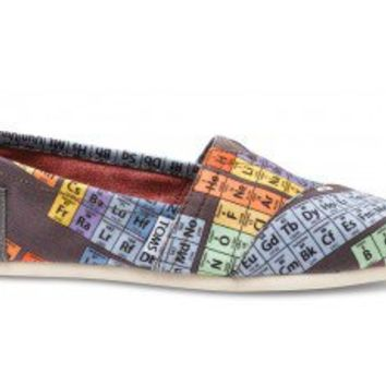 Periodic Table Womens Vegan Classics From Toms Wantt