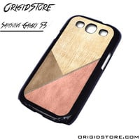 Chevron Wood Triangle Case For Samsung Galaxy S3 Case