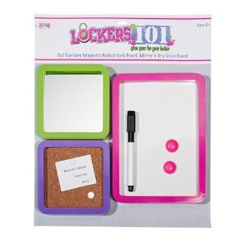 Three Cheers for Girls Lockers 101 Locker Essential Trio Set with Dry Erase Board