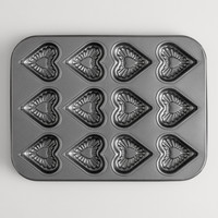 12-Cup Heart Baking Pan - World Market