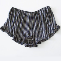 Sara Striped Ruffle Shorts
