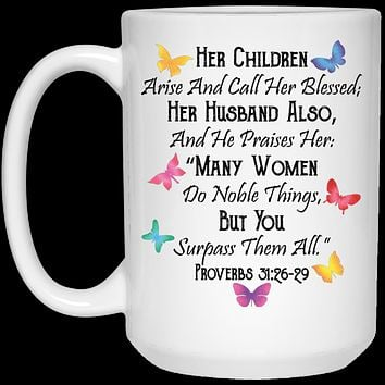 Bible Verse Coffee Mug for Wife, Mom gifts