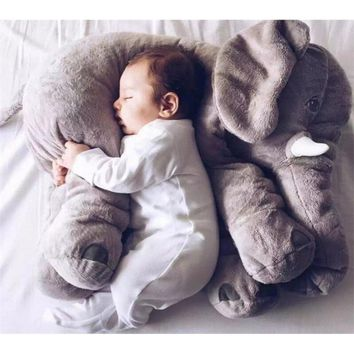 1 PCS Elephant Plush Toys Placate Doll Stuffed Plush Pillow Home Decor for Children Gifts Height 30CM/ 40CM /60CM
