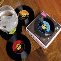 45 Record Coasters (Set of 4) - 2Shopper, Inc.