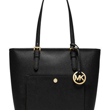 MICHAEL Michael Kors Jet Set Medium Top Zip Snap Pocket Tote | macys.com