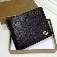 DCCK GUCCI Men Fashion Leather Purse Wallet