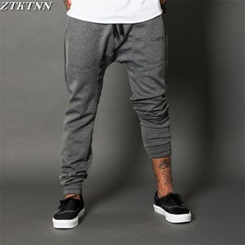 2017 Men Long pants Cotton Men's gasp workout fitness Pants casual sweatpants jogger pants skinny trousers