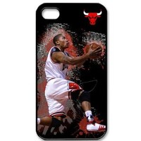 iphone4/4S cover case with Chicago Bulls Derrick Rose graphic image