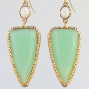It's Going Down Mint Earrings