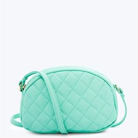 Oval Quilted Crossbody