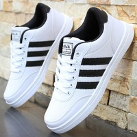 Male leisure sports youth white shoes waterproof board shoes running