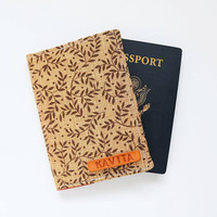 Brown Leafs Passport Cover, Cover for Passport, Brown Leaves Passport Wallet, Passport Holder, Passport Case Gift - SKPC43