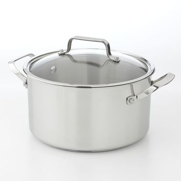 Bobby Flay 6-qt. Stainless Steel Dutch Oven (Grey)