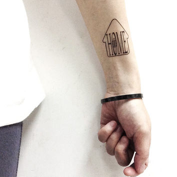 Back Home Now, Home temporary tattoo, Back Home NowTemporary Tattoo, T245