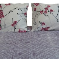 DaDa Bedding Floral Cotton Sheet Set Full 3 Pieces