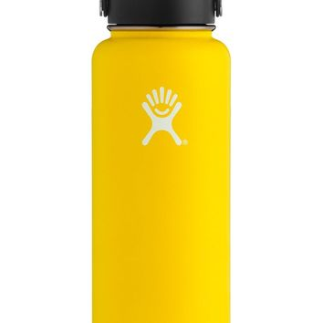 40 oz. Wide Mouth Hydro Flask - Lemon