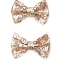 Sequined Bow Hair Clips