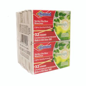 "DIAMOND GREENLIGHT STRIKE-ON-BOX PENNY MATCH, MATCHES, 32 COUNT BOXES, 10 BOXES PER PK: """"DIAMOND GREENLIGHT STRIKE-ON-BOX PENNY MATCH, MATCHES, 32 COUNT BOXES, 10 BOXES PER PK"""""