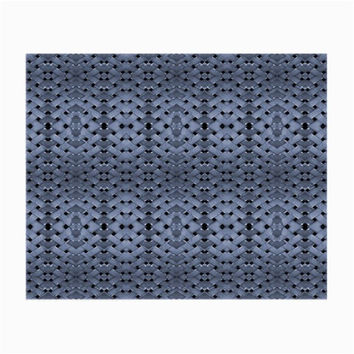 Futuristic Geometric Pattern Design Print in Blue Tones Glasses Cloth (Small)