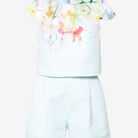 Hanging Gardens layered playsuit - Mint | Rompers & Jumpsuits | Ted Baker