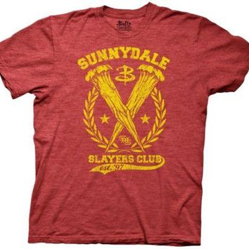 Buffy the Vampire Slayer's Club TV Movie Adult T Shirt