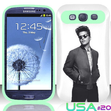 USA Design #20 - Samsung Galaxy S3 Glow in Dark Case # Bruno Mars Art @ Cover for Galaxy S3 i9300 case