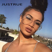 JUSTRUE Brand Classic Aviator Glasses Eyeglasses Unisex Spectacles Clear Lens Superior Metal Frame Men Women Celebrity Eyewear