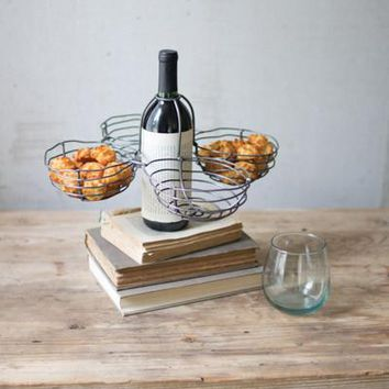 Set Of 4 Wire Wine Bottle Topper