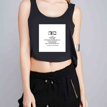 Choco Chanel Quotes for Crop Tank Girls S, M, L, XL, XXL *07*